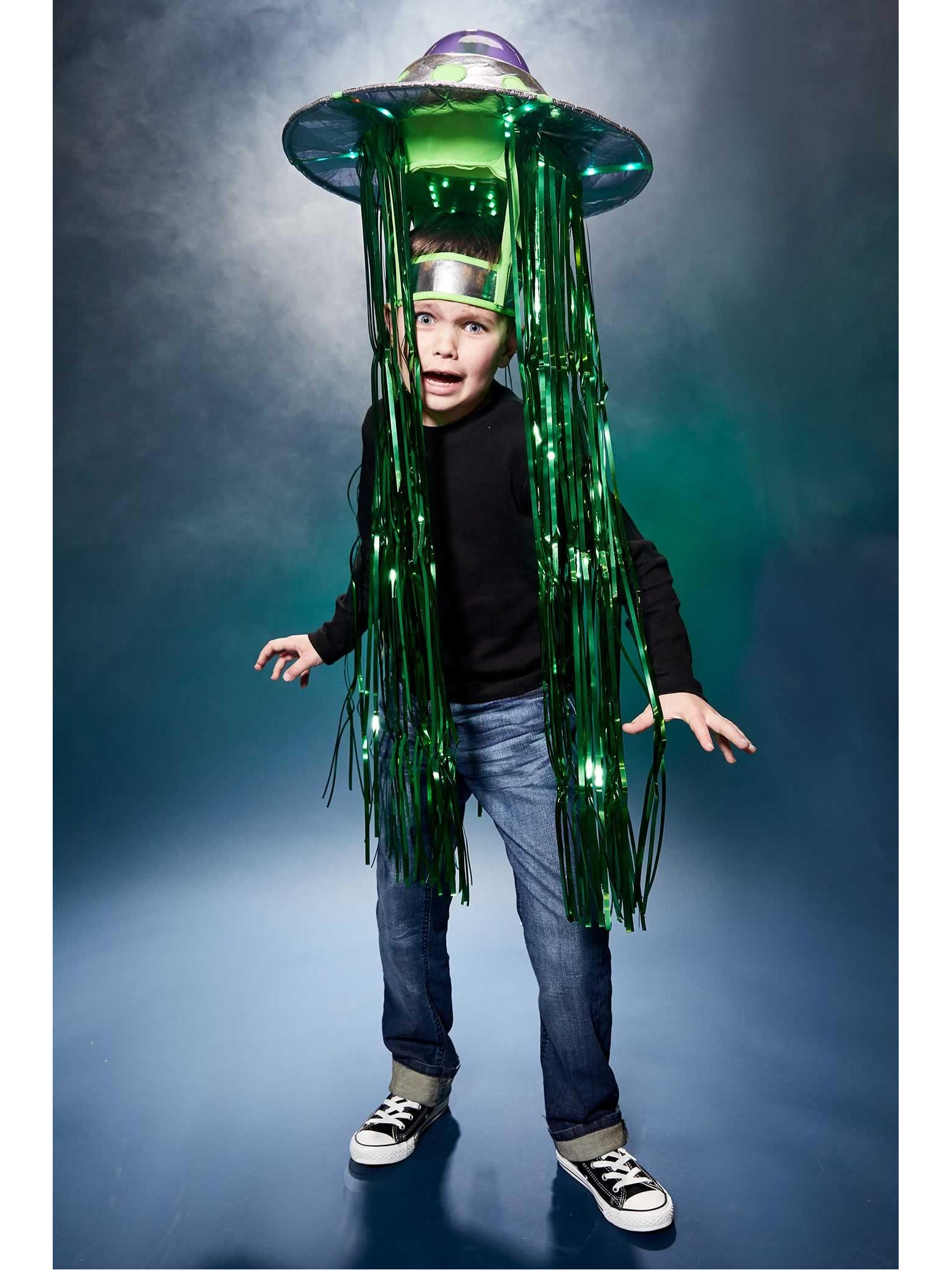 Light Up Flying Saucer Ufo Costume Chasing Fireflies