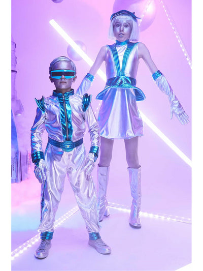 Light-Up Space Suit Costume for Boys  sil alt2