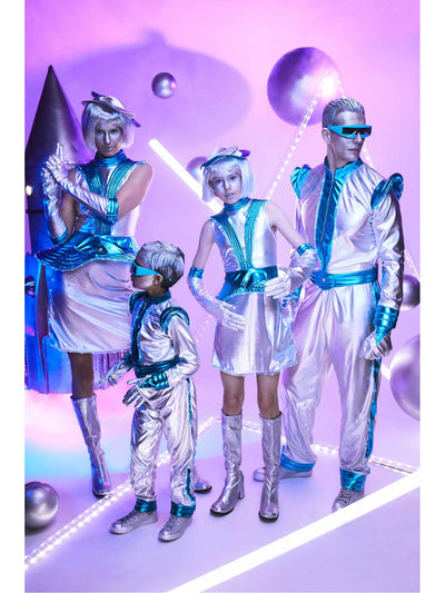 Light-up Space Costume for Women  sil alt2