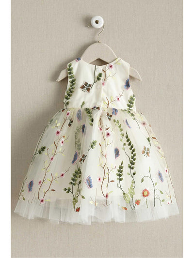 Little Girls Embroidered Vines Dress  ivo alt2