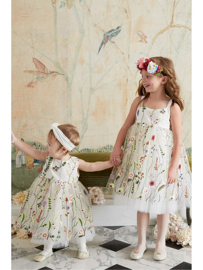 Little Girls Embroidered Vines Dress  ivo alt3