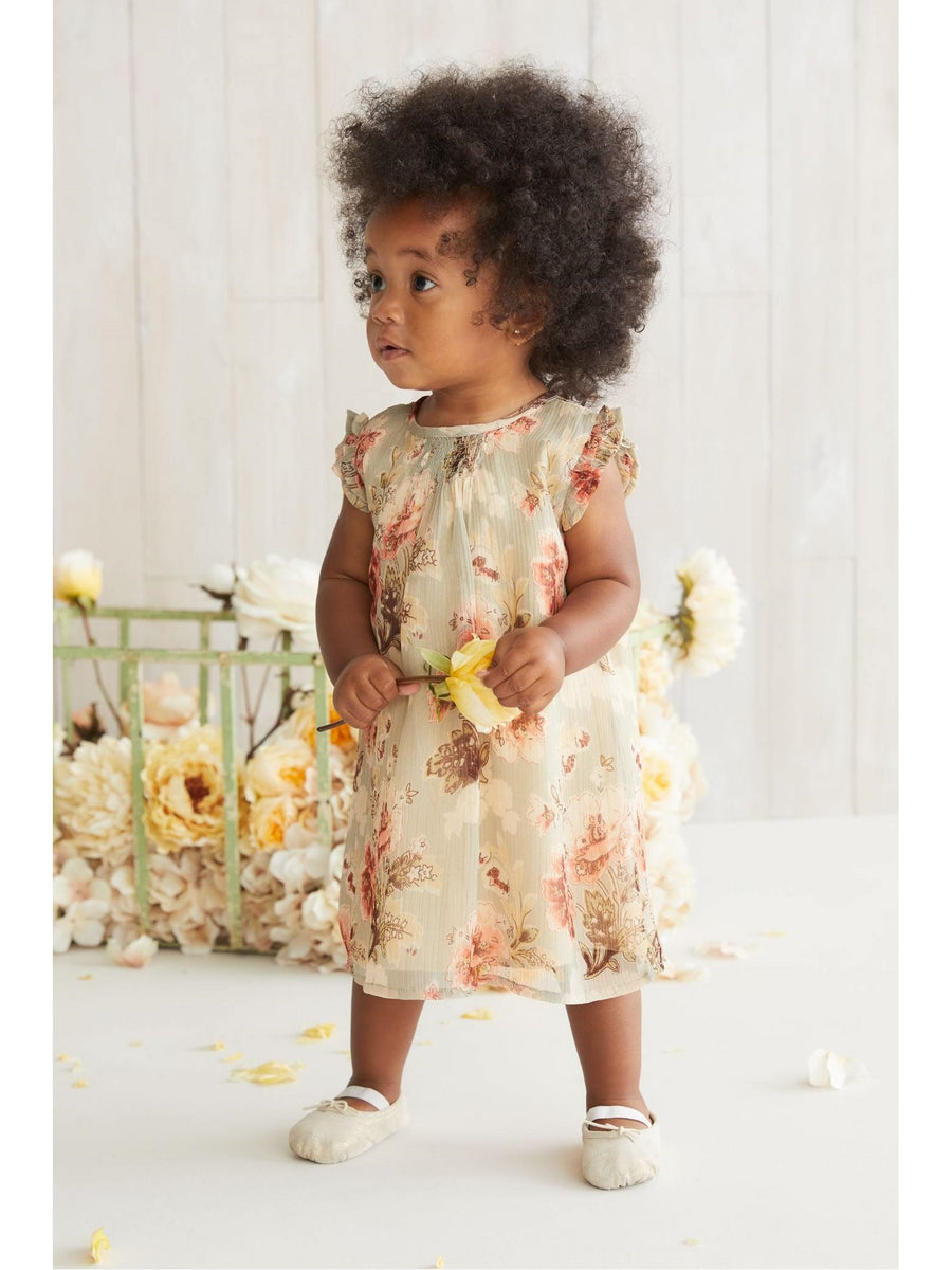 Little Girls Vintage Floral Dress
