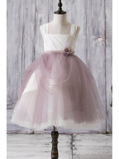 Mauve Pink Chiffon Rose Fancy Dress