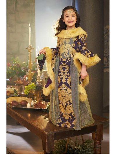 Medieval Princess Costume for Girls  pur alt1