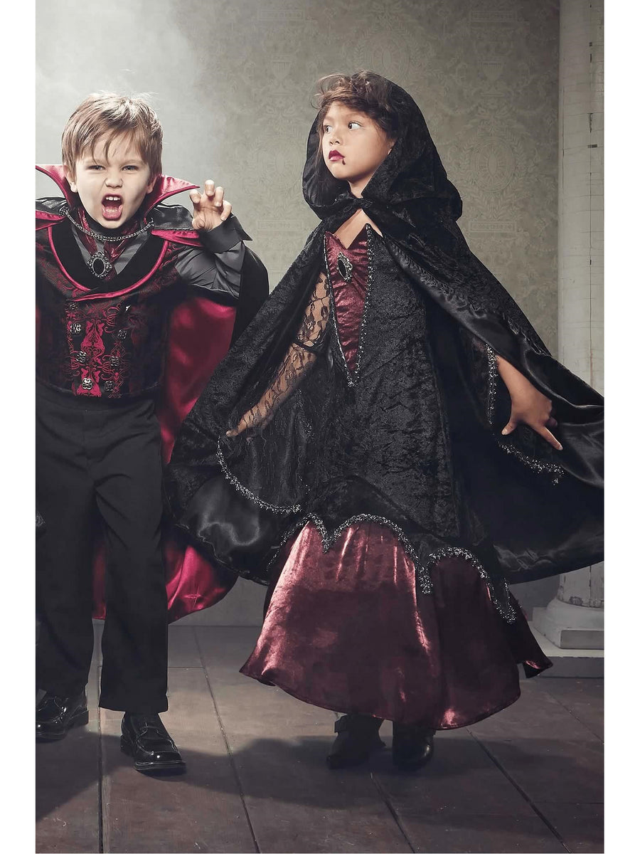 Midnight Vampiress Costume For Girls