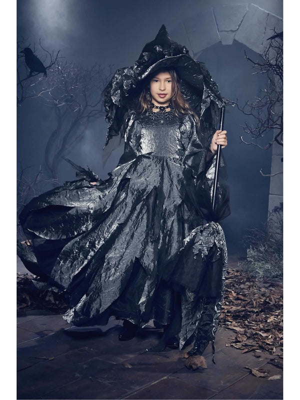 Witch Costume Girl witch costume Girl  Black sequin dress Girl witch dress Girls maleficent costume christmas gifts