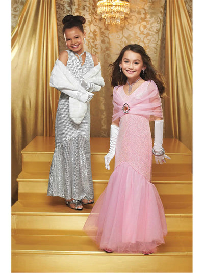 Movie Star Costume For Girls  sil alt1