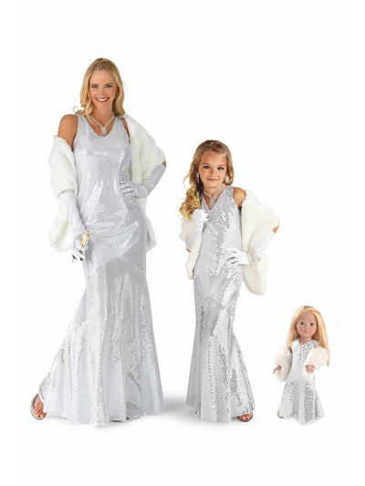 Movie Star Costume For Girls  sil alt2