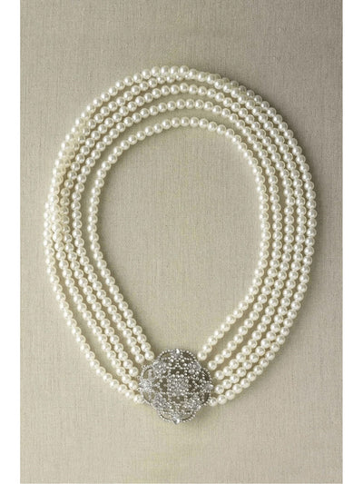 Multi-Strand Pearl Necklace  sil 1