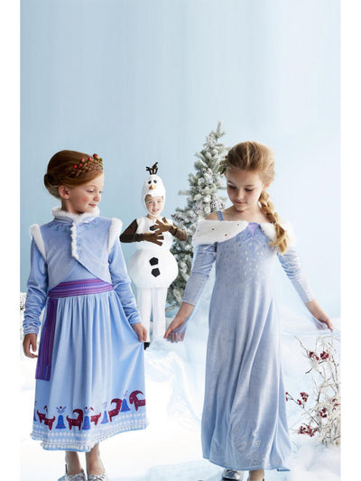 Olaf's Frozen Adventure Elsa Costume for Girls  gra alt1