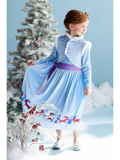 Olaf's Frozen Adventure Anna Costume for Girls