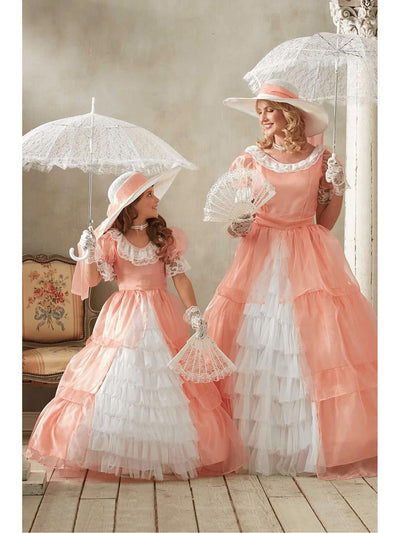 Peachy Southern Belle Costume for Girls  pea alt3