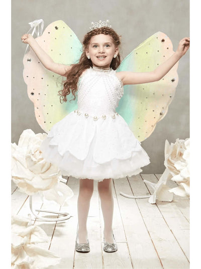 Pearl Fairy Costume For Girls  whi alt1