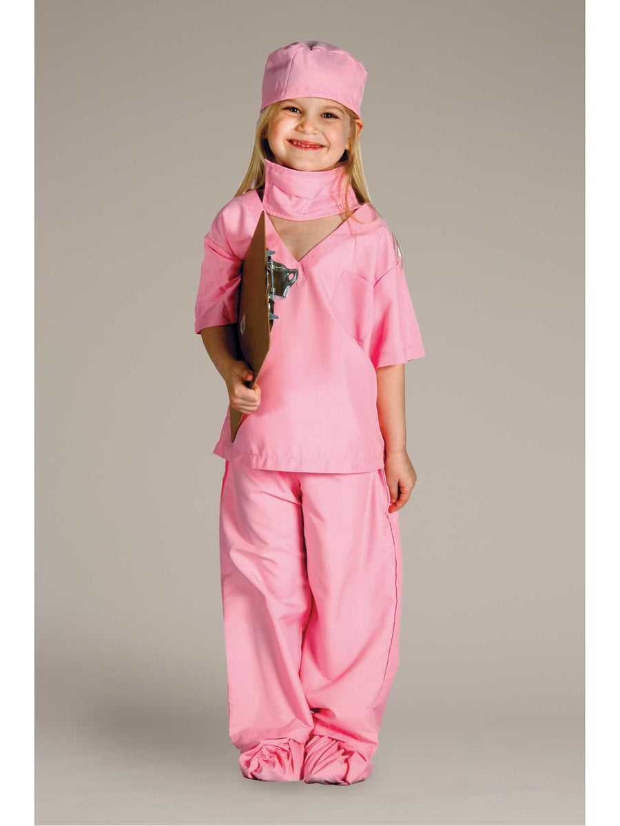 Pink Doctor Scrubs Costume for Kids