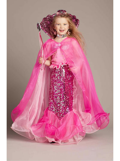 Pink Fairytale Mermaid Cape for Girls