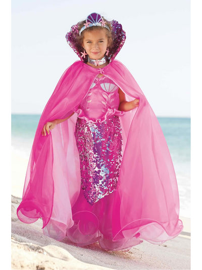 Pink Fairytale Mermaid Cape for Girls  pin alt1
