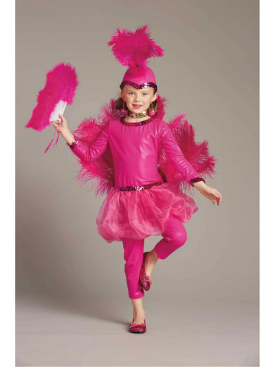 Pink Flamingo Costume for Girls  pin alt1
