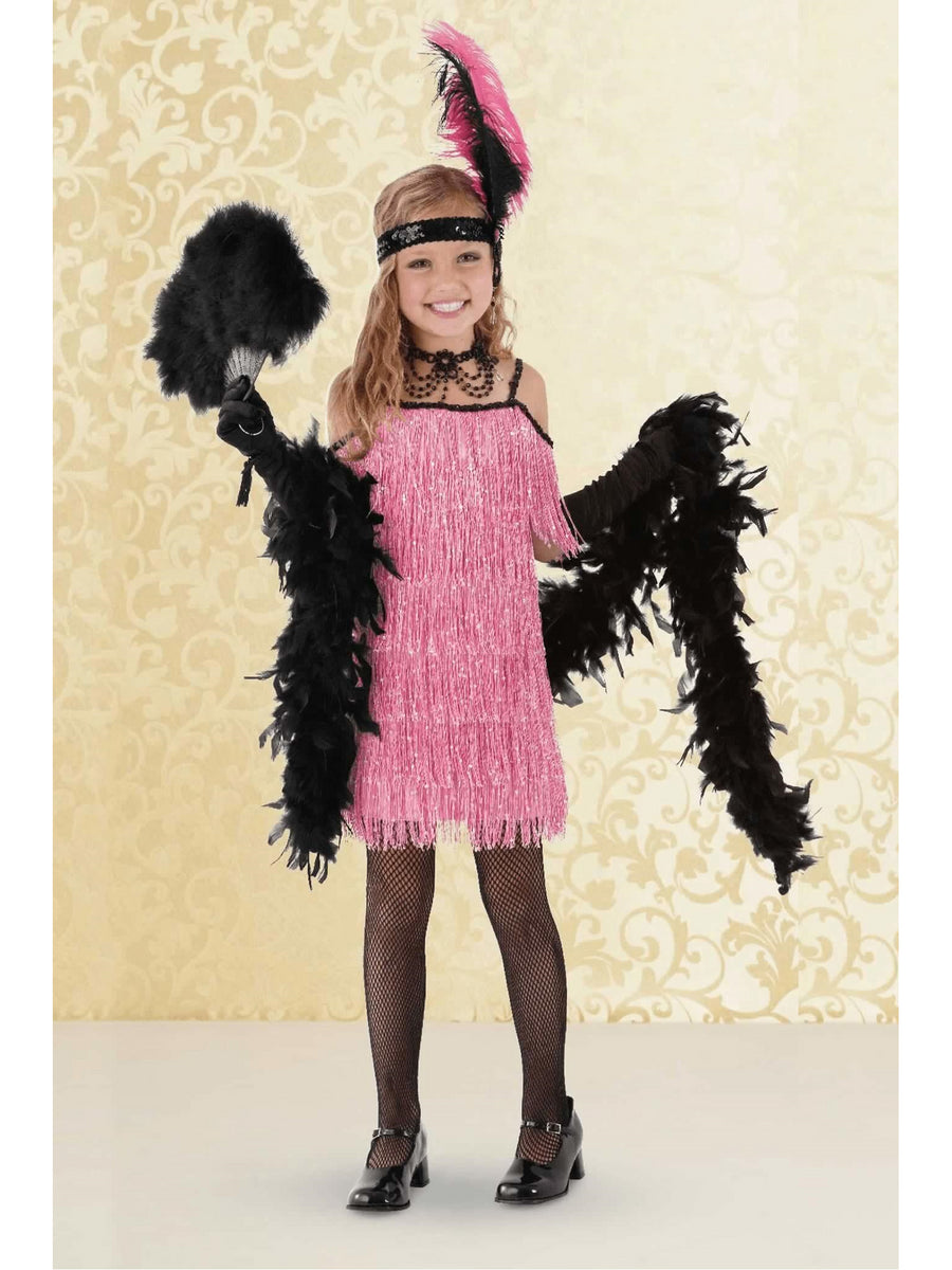 Pink Flapper Costume For Girls