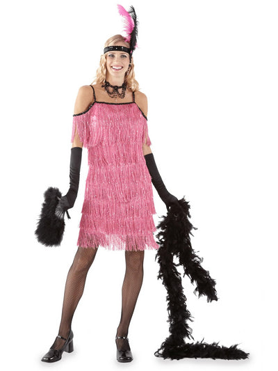 Pink Flapper Costume for Women