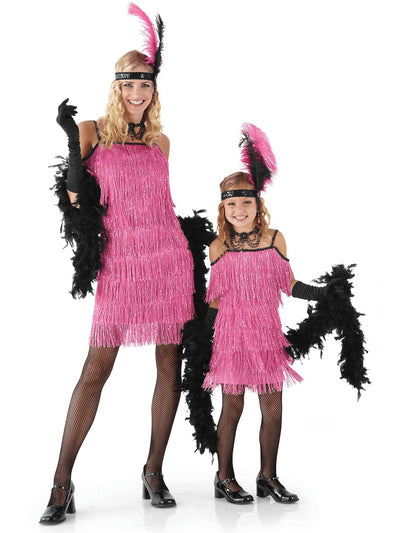 Pink Flapper Costume for Women  pin alt1