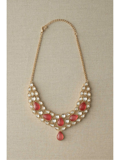 Pink Jeweled Necklace