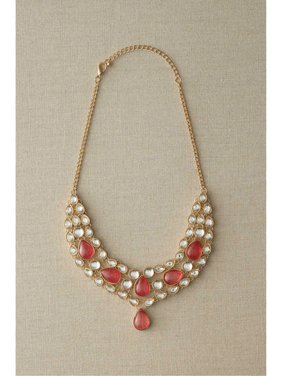 Pink Jeweled Necklace  nc 1