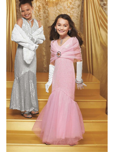 Pink Movie Star Costume For Girls  pin alt1