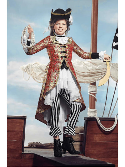Pirate Captain Costume For Girls  red alt1