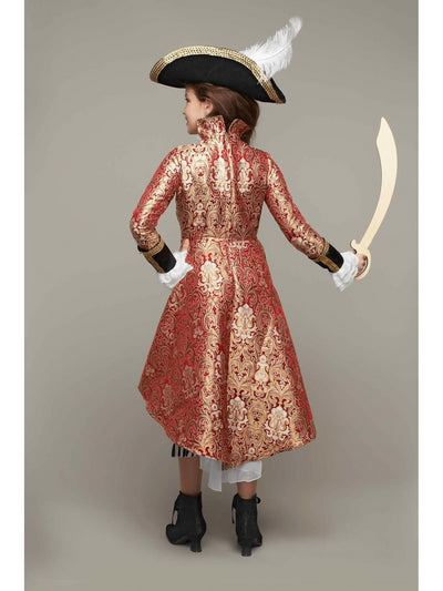 Pirate Captain Costume For Girls  red alt2
