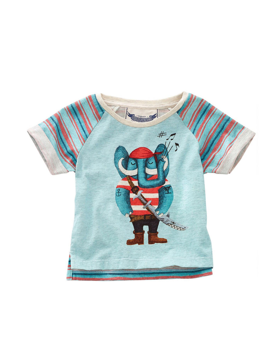 Pirate Elephant Tee for Baby