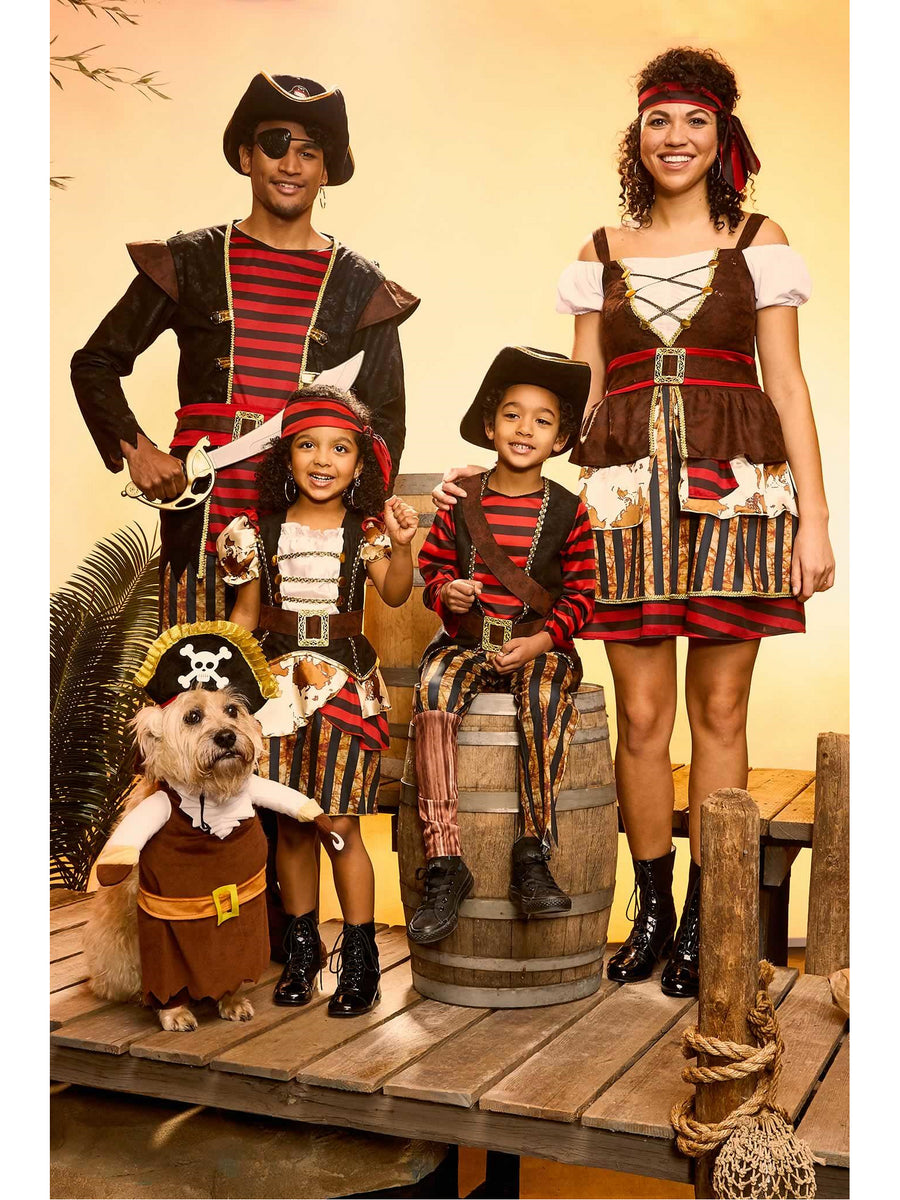 Pirate Lady Costume Play Set For Girls