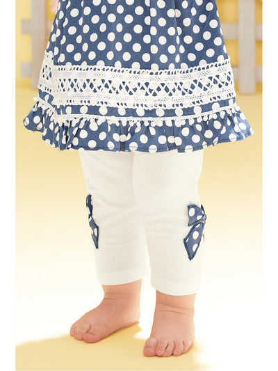 Polka Dot Bow Leggings for Baby