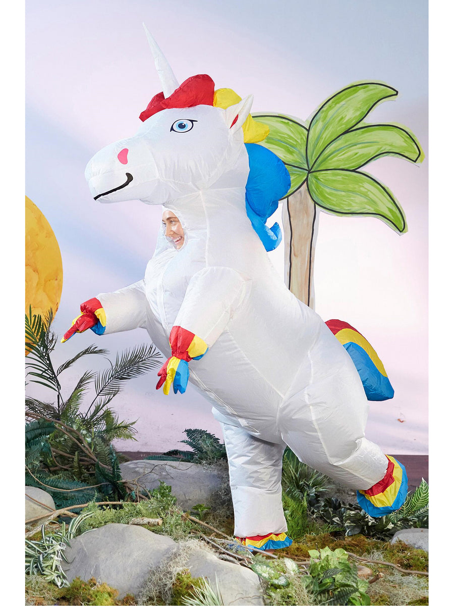 Prancing Rainbow Unicorn Costume for Adults