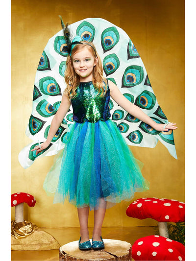 Pretty Peacock Costume for Girls