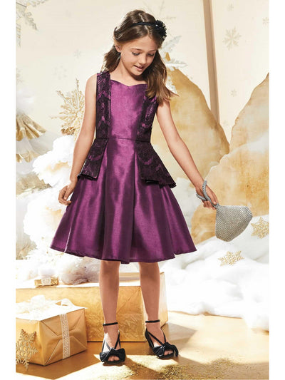 Purple Peplum Dress