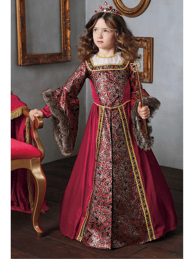 Queen Isabella Costume For Girls  red alt1