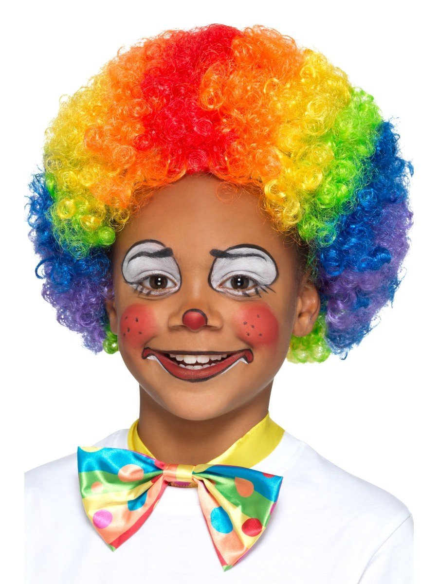 Rainbow Clown Wig, Kids