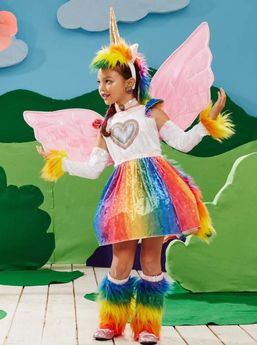 Rainbow Pegasus Costume for Girls