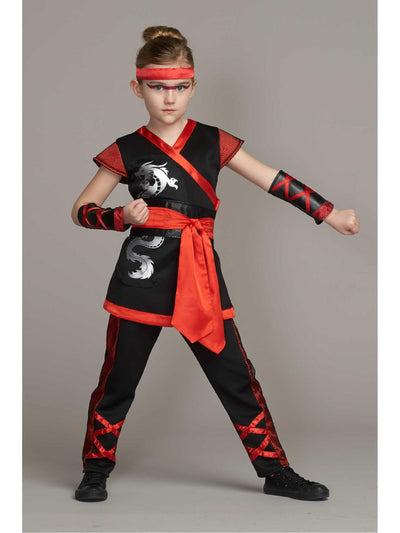 Red Ninja Costume For Girls