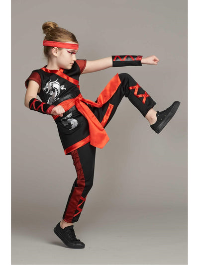 Red Ninja Costume For Girls  bla alt1