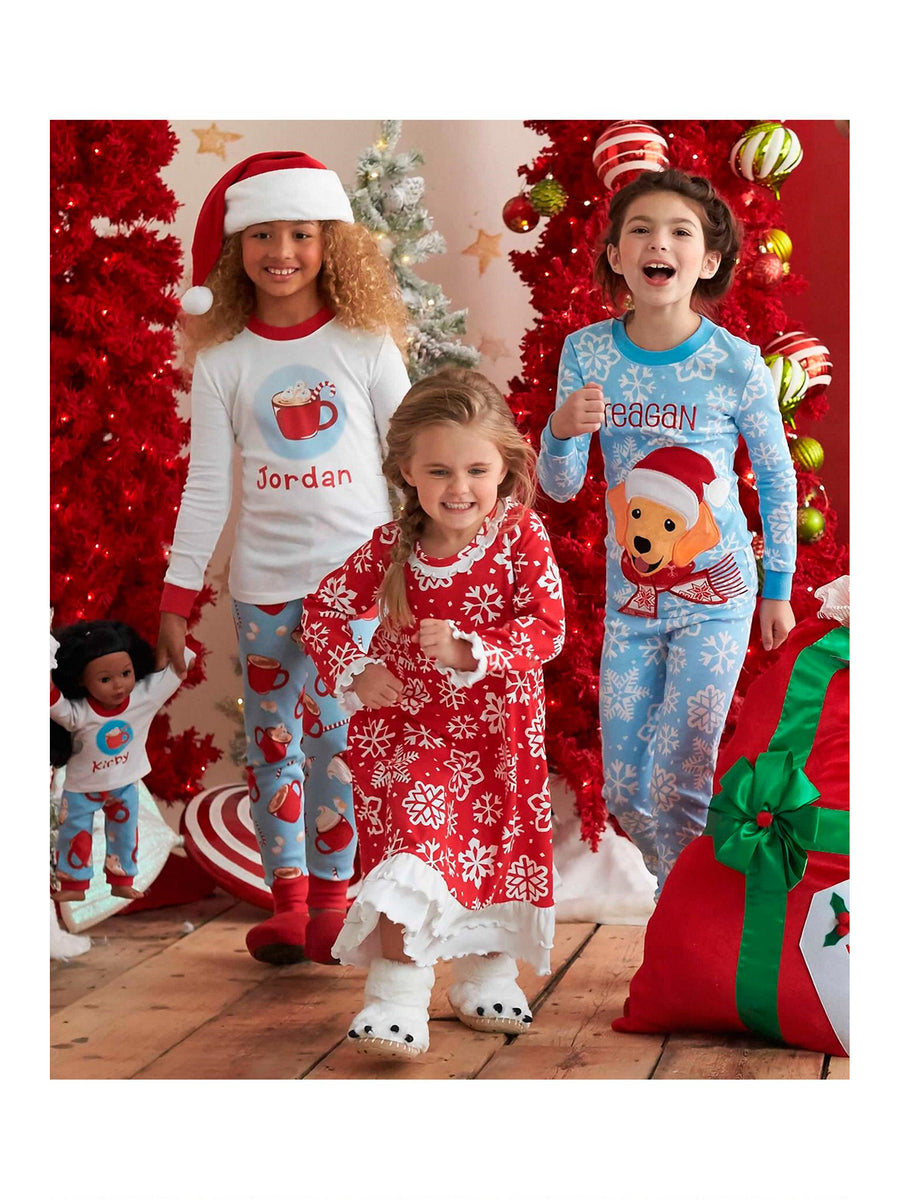 Girls Red Snowflake Nightgown