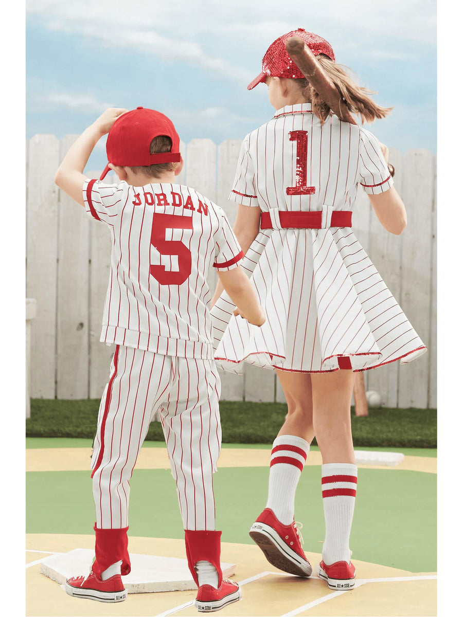 Retro Baseball Player Costume For Boys