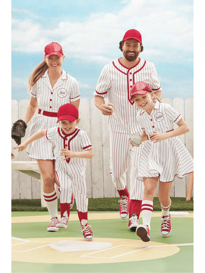 Retro Baseball Player Costume For Boys  mlt alt2