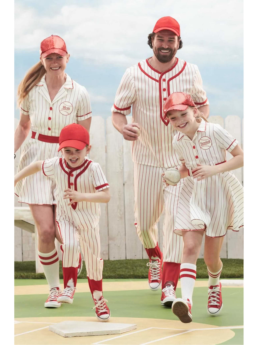 Retro Baseball Player Costume For Girls