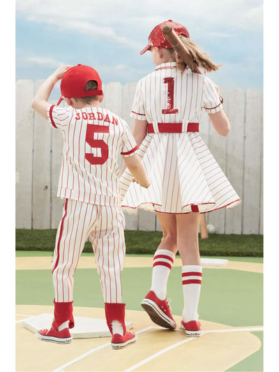 Retro Baseball Player Costume For Girls  mlt alt2
