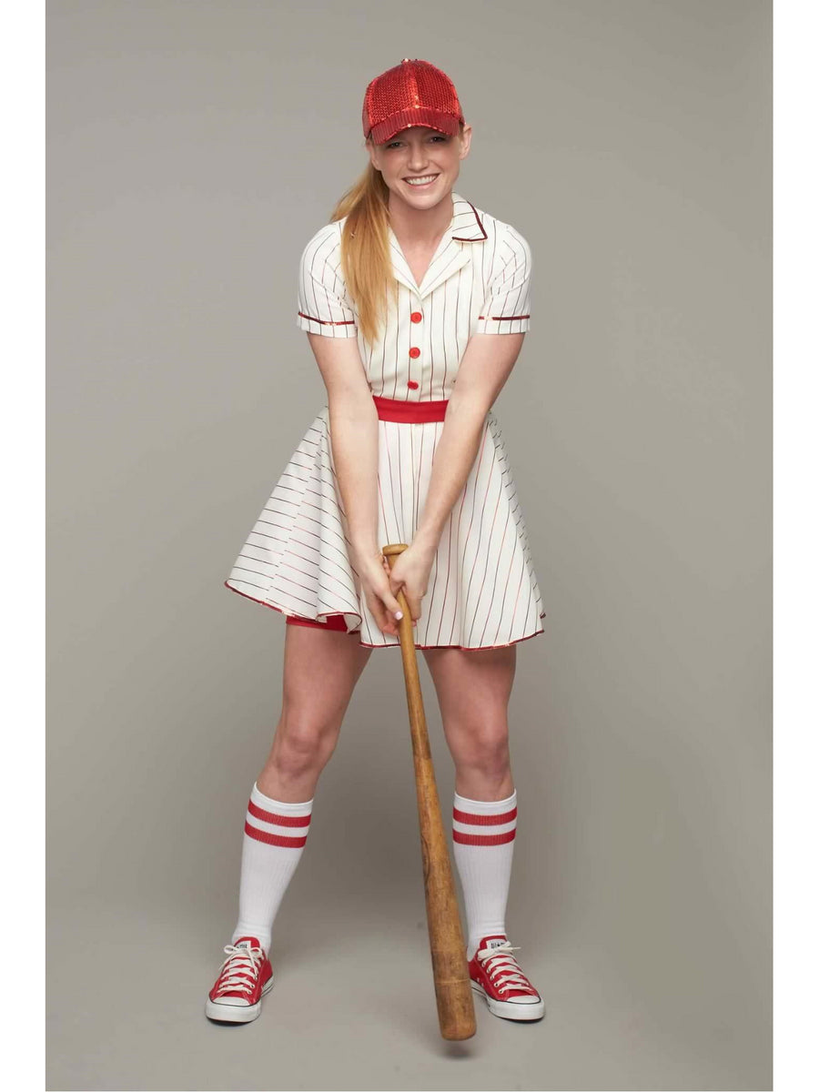 Retro Baseball Player Costume For Women