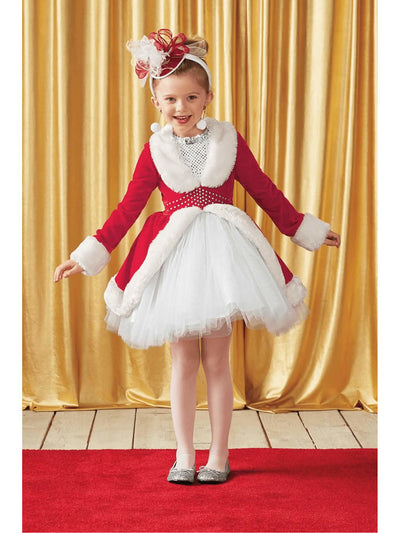 Rockettes® Santa Costume For Girls  red alt1