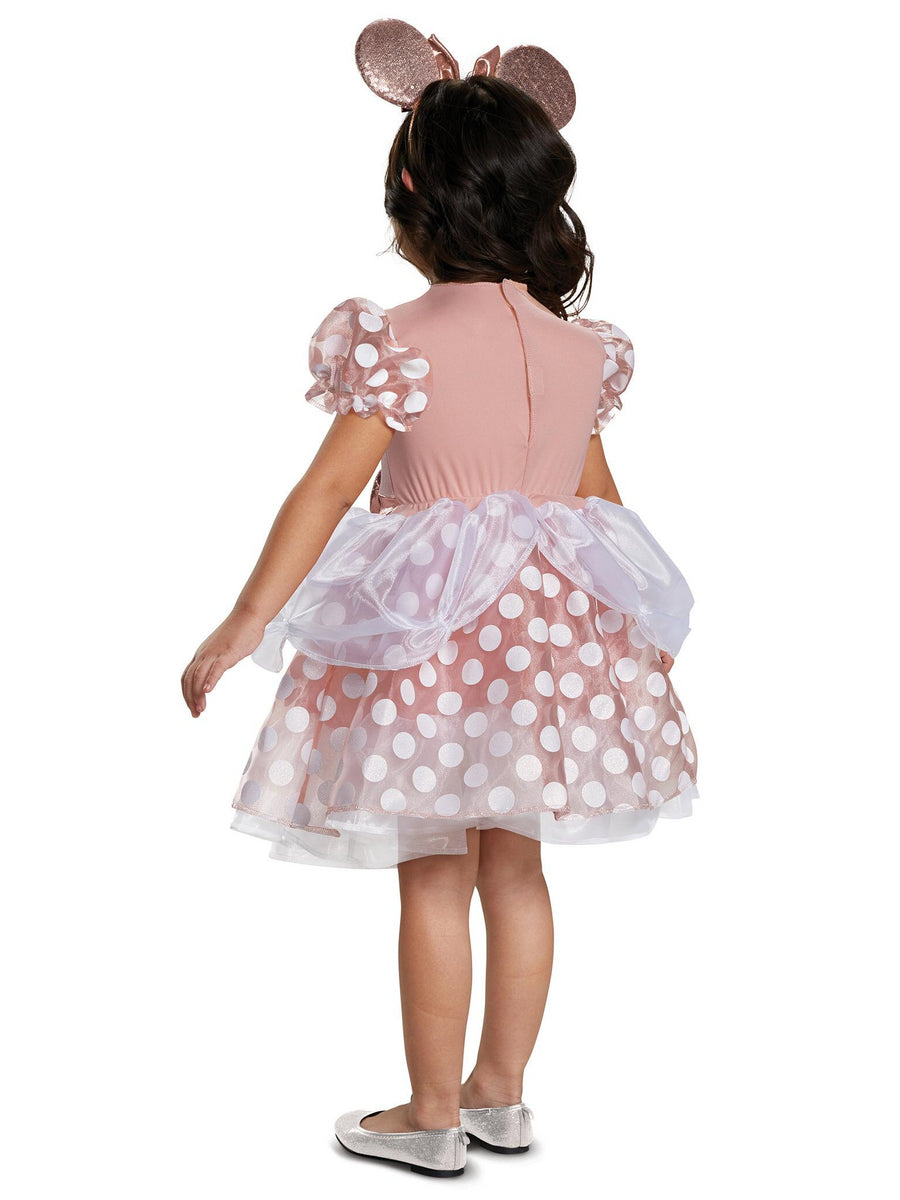 Rose Gold Minnie Classic Costume for Toddlers