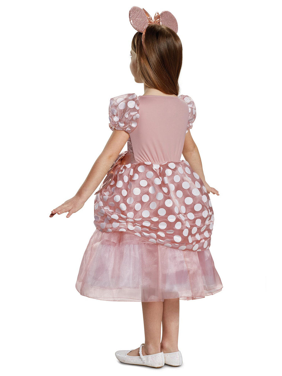 Rose Gold Minnie Deluxe Costume for Girls