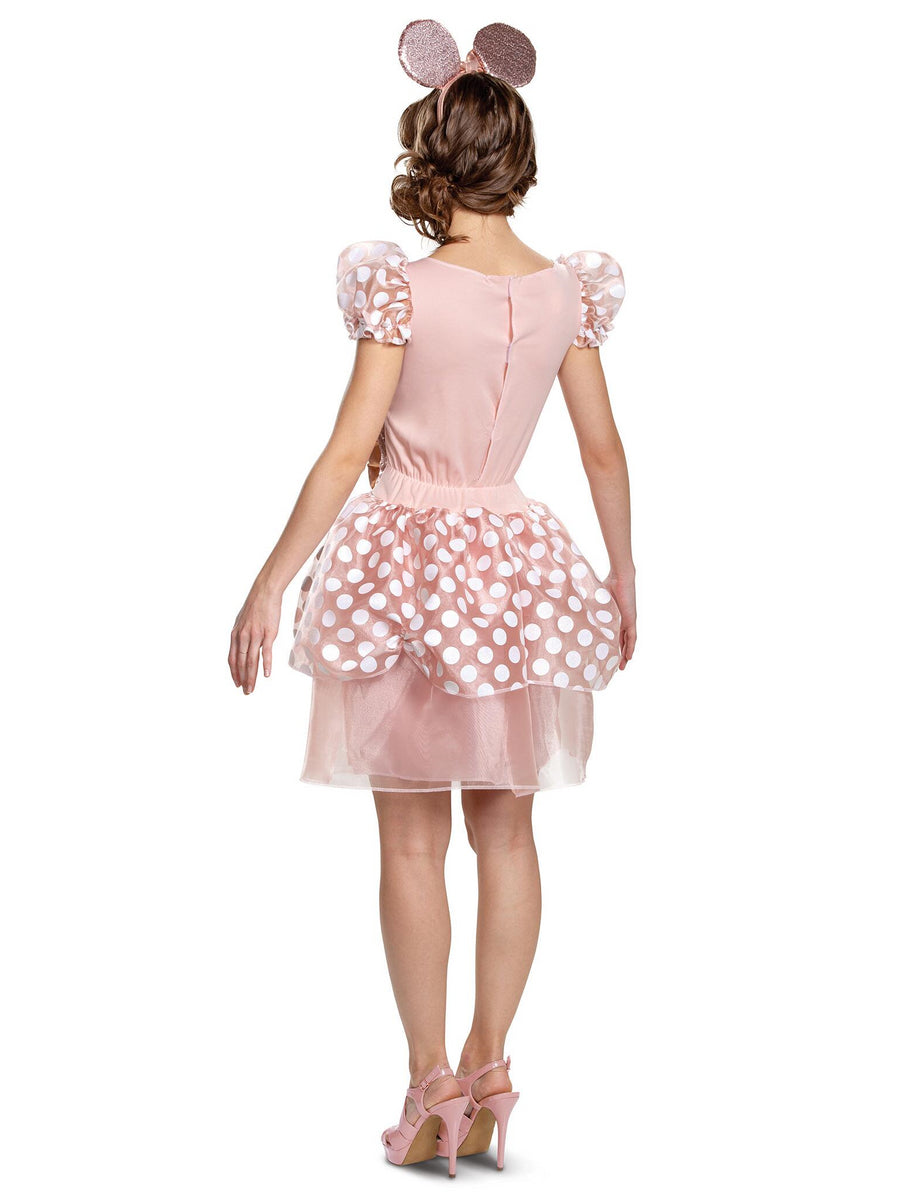 Rose Gold Minnie Deluxe Costume for Women